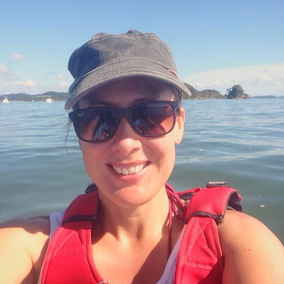 Me, happy to be out on the water on such a stunning day.