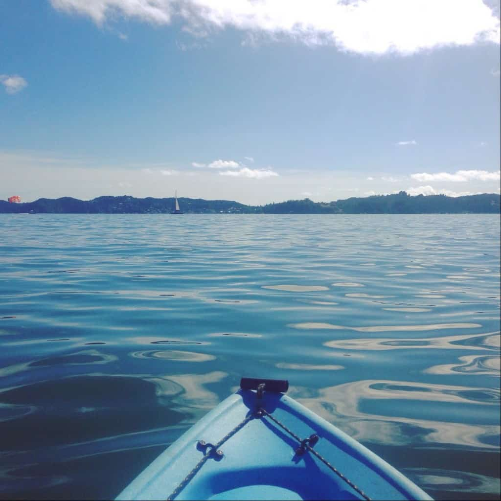 What a beautiful day, kayaking in Paihia in the Bay of Islands! This is the view I had...