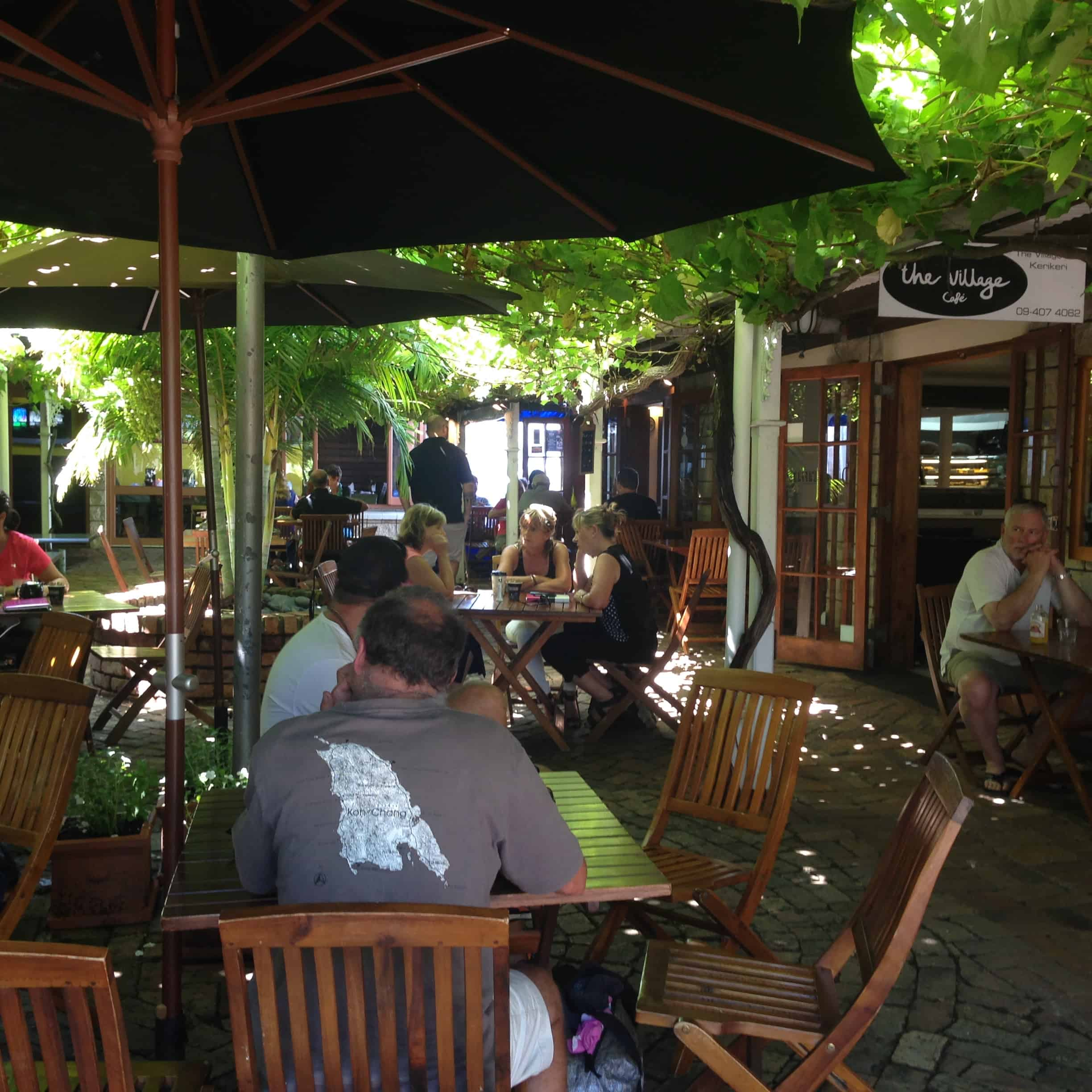 The Village Cafe enjoys a wonderful location off Kerikeri Road. It's lovely to sit under the shady vines on a hot Northland summer's day.