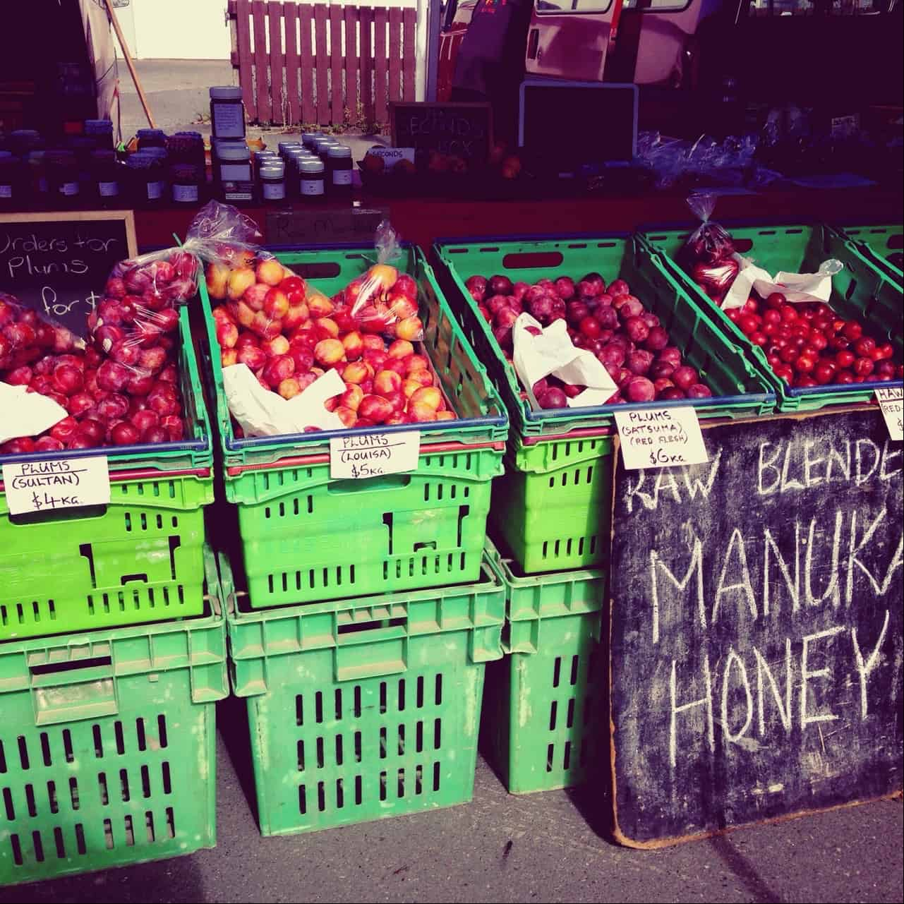 Fresh fruit at the Bay Of Islands Farmers' Market