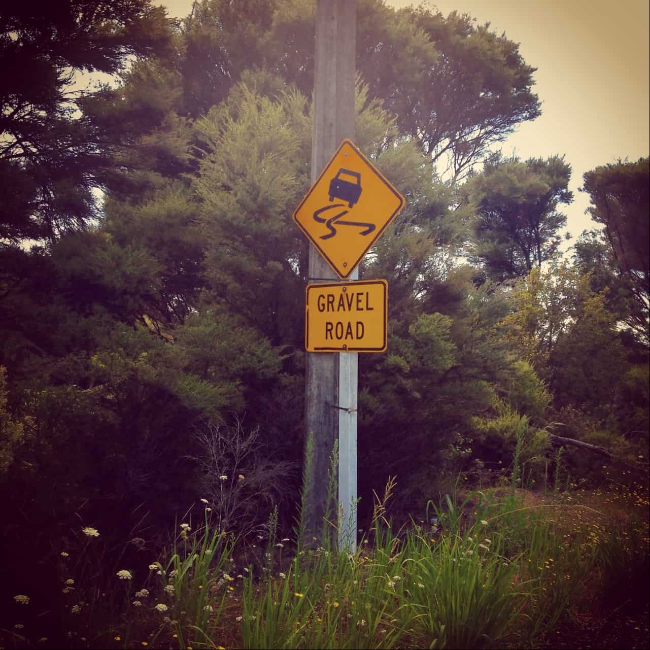 Beware of the gravel road to Wharau Road beach