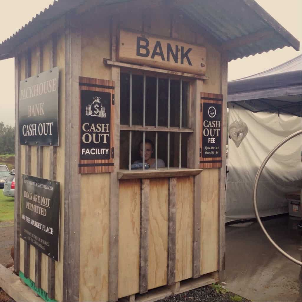 Isn't the cash-out facility at The Old Packhouse Market cute? It looks like something out of a cowboy movie!