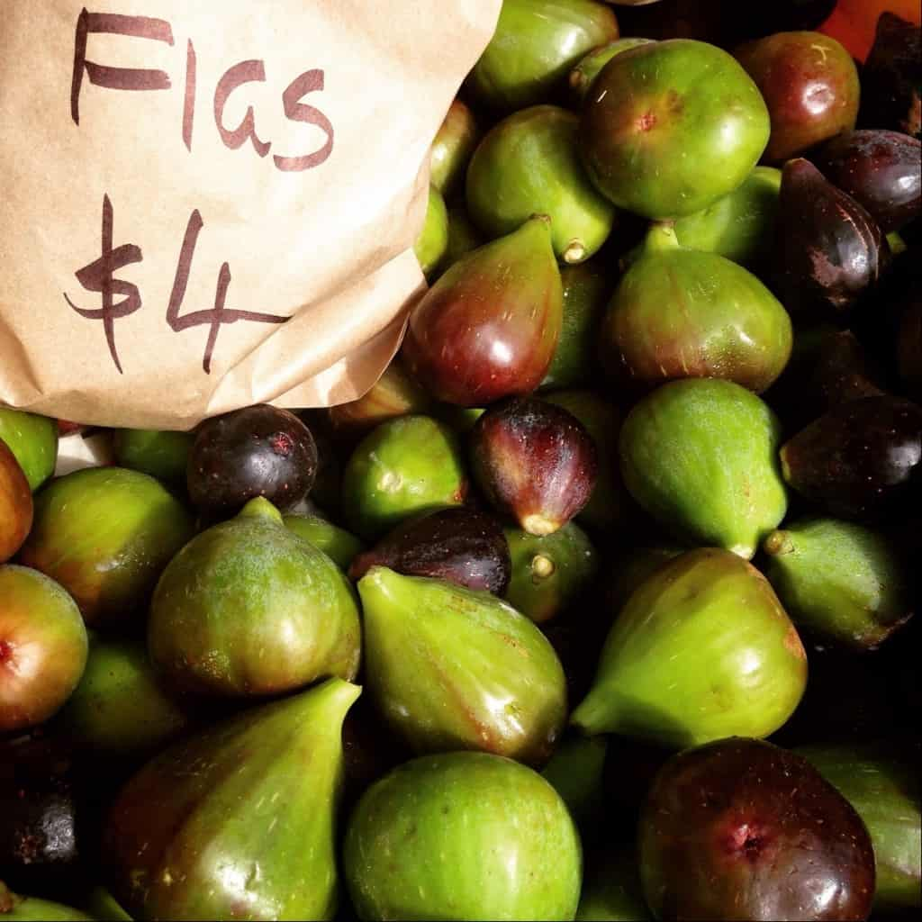 Fresh figs at the Bay of Islands farmers' market.