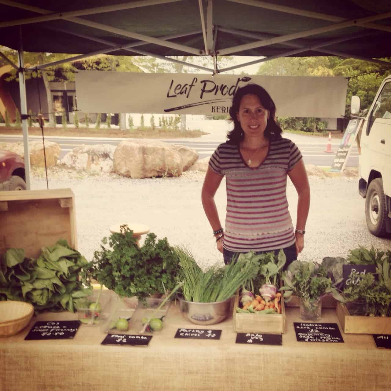 I sometimes have a stall at The Old Packhouse Market, Kerikeri, for Leaf Produce, selling my homegrown lettuces and herbs.