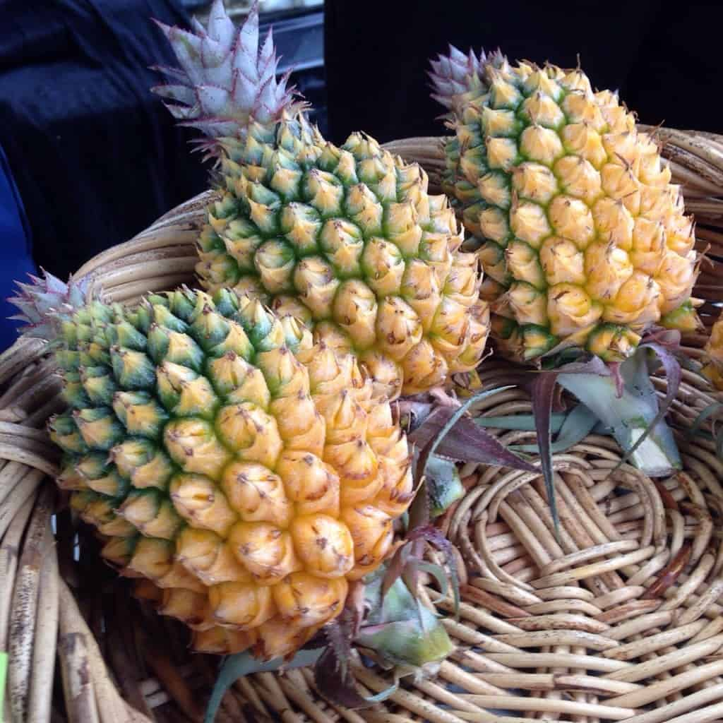 Northland NZ pineapples at the Bay of Islands Farmers' Market in Kerikeri