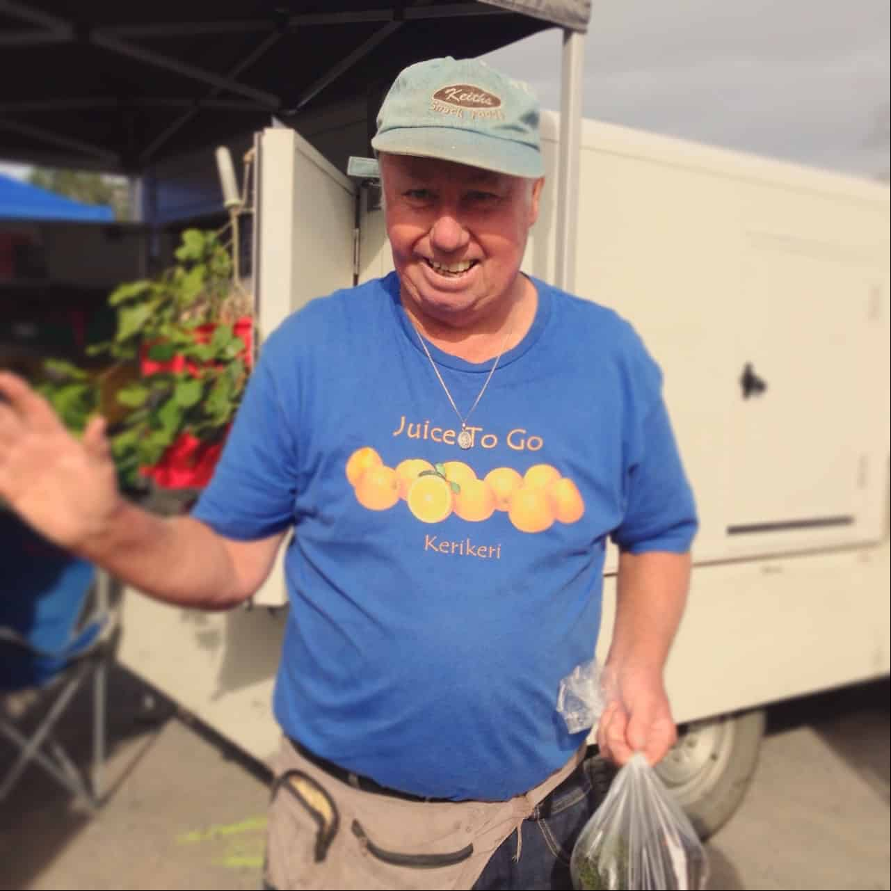 As well as selling his fruit at the local market, Keith also owns The Farm Store on Kerikeri Road, where you can buy in-season fruit. It's run with an honesty box system, but there's a bell you can ring if you need change.