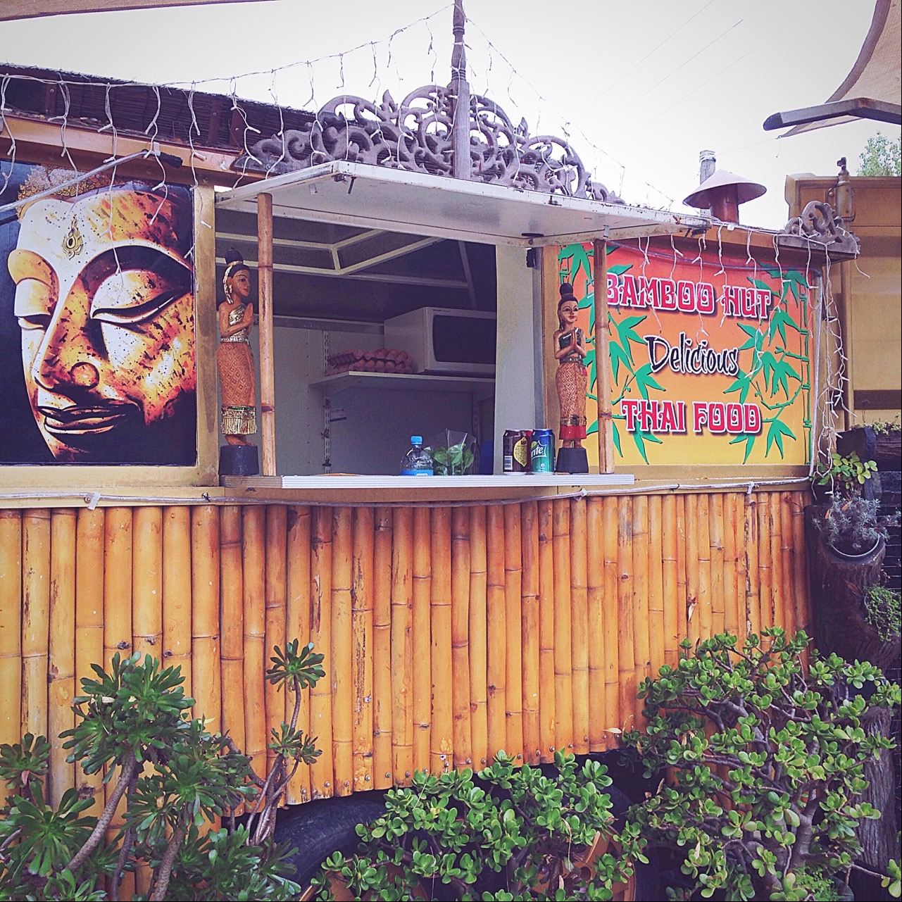 The Bamboo Hut on SH10 is like a little slice of Thailand in the Bay of Islands.