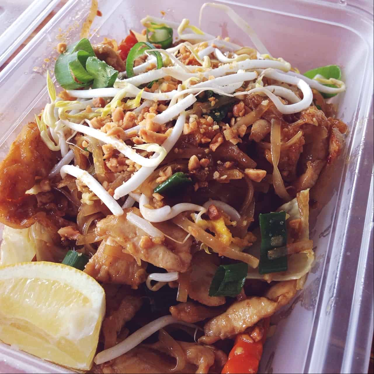 Pad Thai at The Bamboo Hut on State Highway 10.
