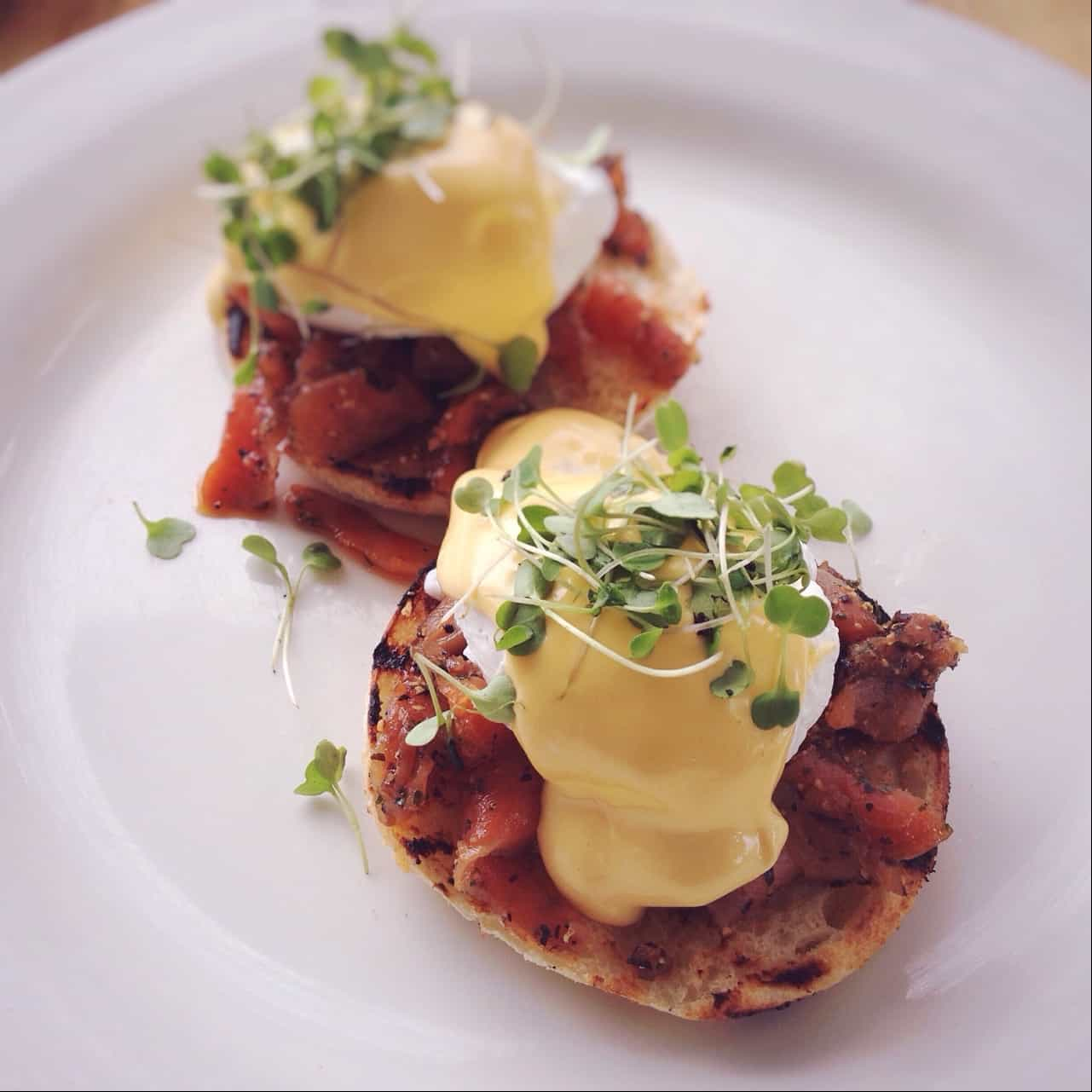 Eggs Benedict as served at The Pear Tree.