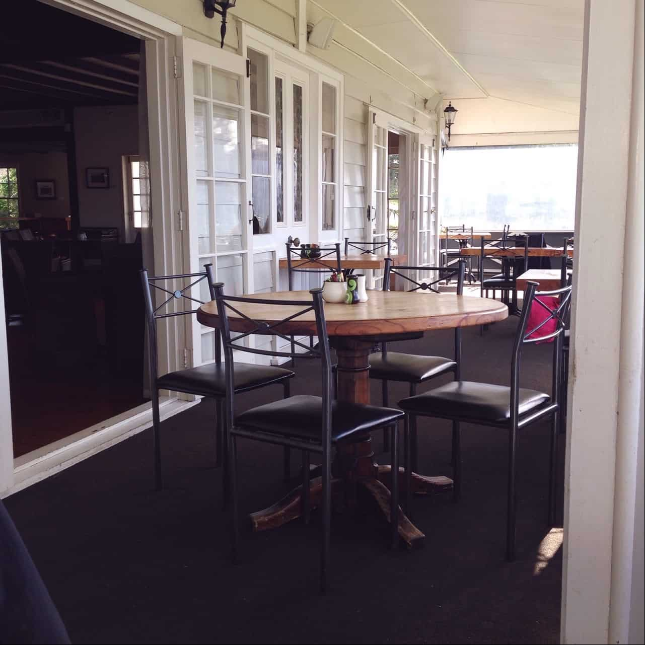 The verandah of The Pear Tree is enclosed in winter, so you can enjoy the view even if the weather isn't great.